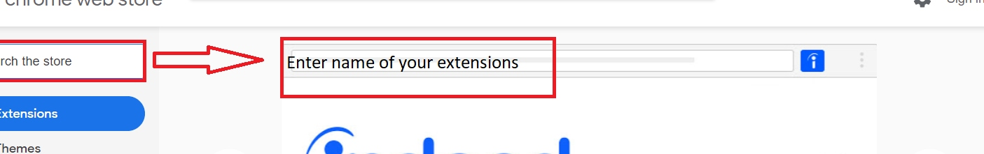 enter name of your extensions