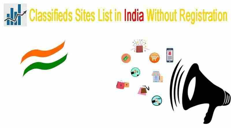 Classified sites in india without registration